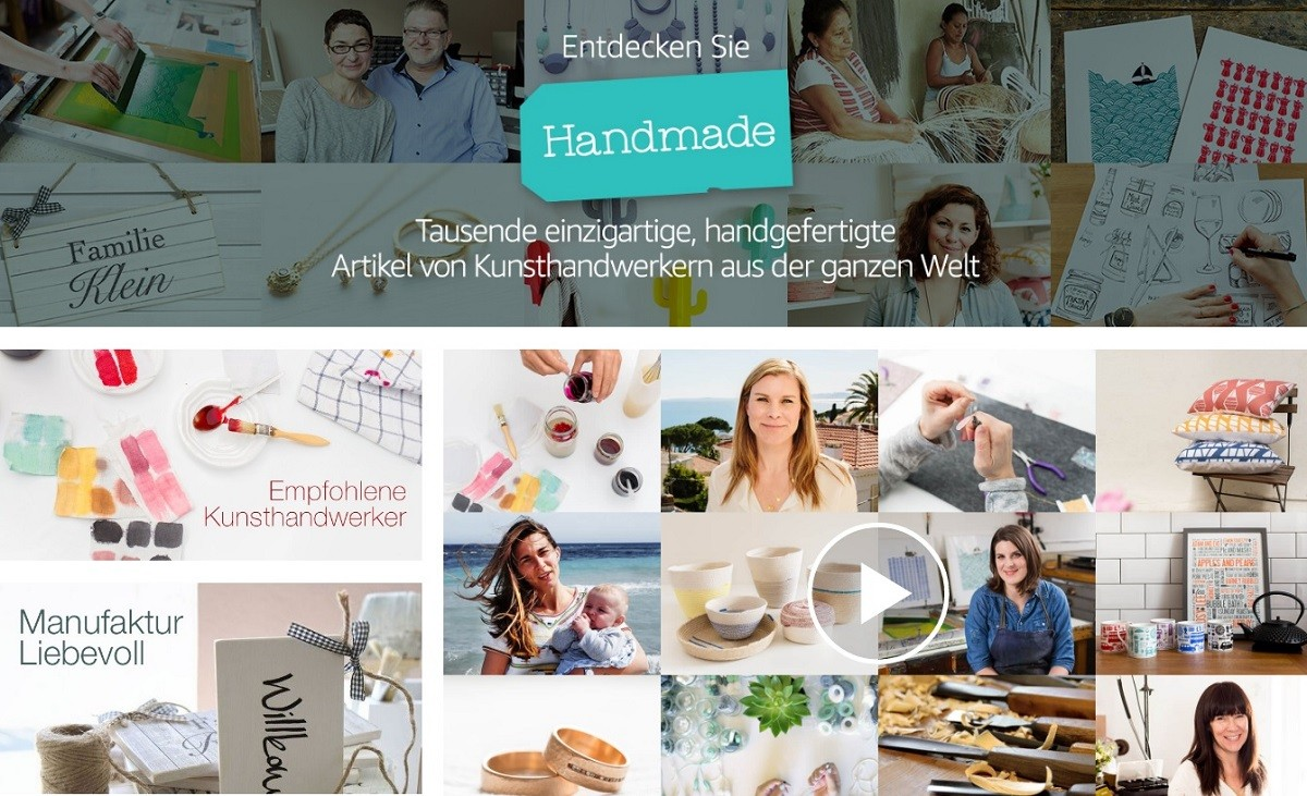 "Screenshot ""Handmade at Amazon"" auf amazon.de"