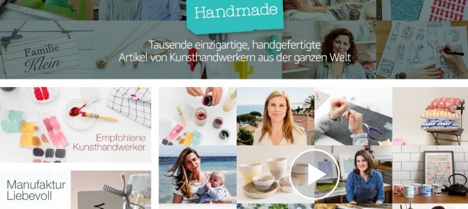 Handmade at Amazon in Deutschland gestartet