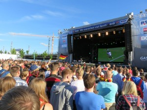 Public Viewing EM 2016 in Kiel an der Hörnbühne