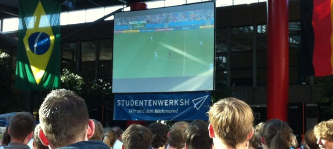 WM 2014: Public Viewing in Mensa I der CAU