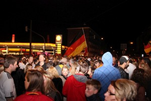 WM-Party 2014 Kiel Shell Tankstelle